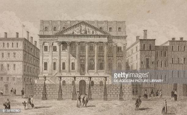 Mansion House the official residence of the Lord Mayor of London England United Kingdom engraving by Lemaitre from Angleterre Ecosse et Irlande...