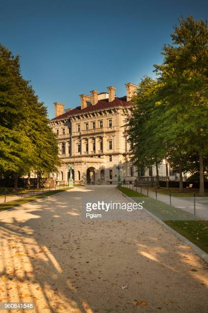 mansion in newport rhode island usa - the breakers stock photos and pictures
