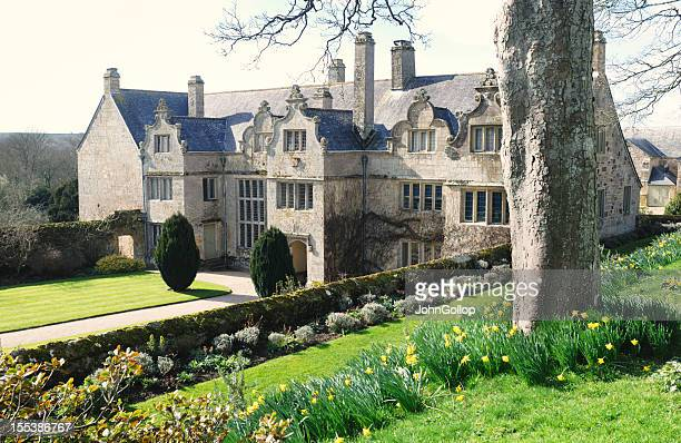 mansion - elizabethan style stock photos and pictures