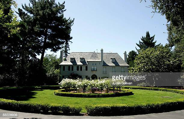 A mansion style home is seen July 12 2005 in Atherton California According to a recent survey by Forbescom Atherton a small town in the heart of...