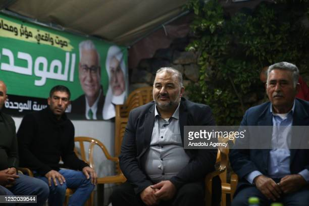 Mansour Abbas, leader of the United Arab List is seen during an exclusive interview in Jerusalem, on March 31, 2021. The United Arab List has emerged...