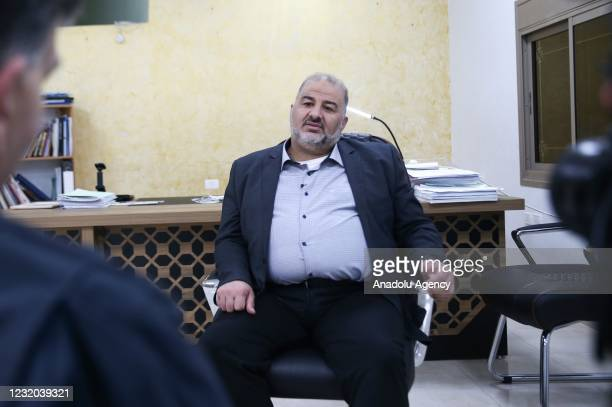 Mansour Abbas, leader of the United Arab List speaks during an exclusive interview in Jerusalem, on March 31, 2021. The United Arab List has emerged...