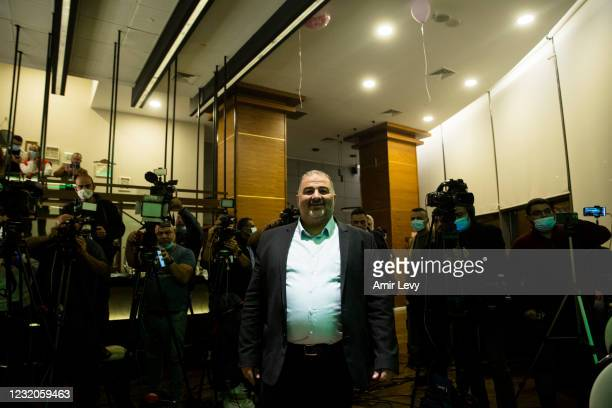 Mansour Abbas, the head of the United Arab Party arrives to deliver a speech on April 1, 2021 in Nazareth, Israel. After last week's general election...
