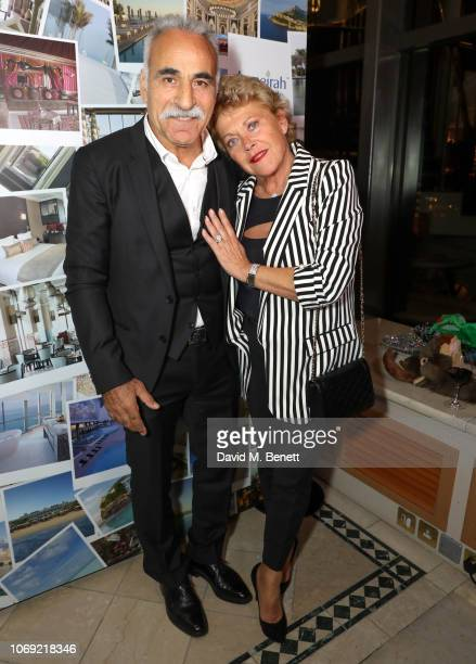 Mansour Bahrami and Frederique Bahrami attend an ace night at the Champions Tennis Players Party at Jumeirah Carlton Tower on December 6 2018 in...
