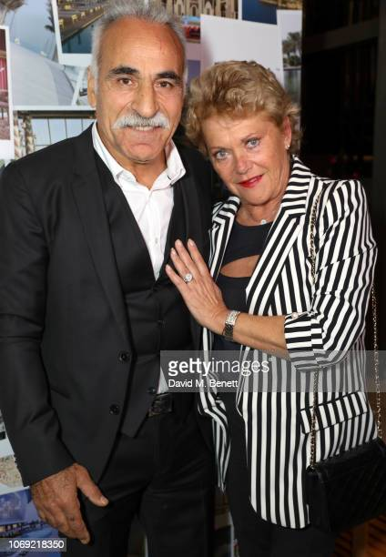Mansour Bahrami and Frederique Bahrami attend an ace nightat the Cham pions Tennis Players Party at Jumeirah Carlton Tower on December 6, 2018 in...