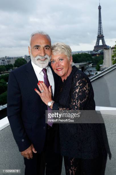 Mansour Bahrami and Frederique Bahrami attend the Legends Of Tennis Dinner as part of 2019 French Tennis Open at on June 05 2019 in Paris France