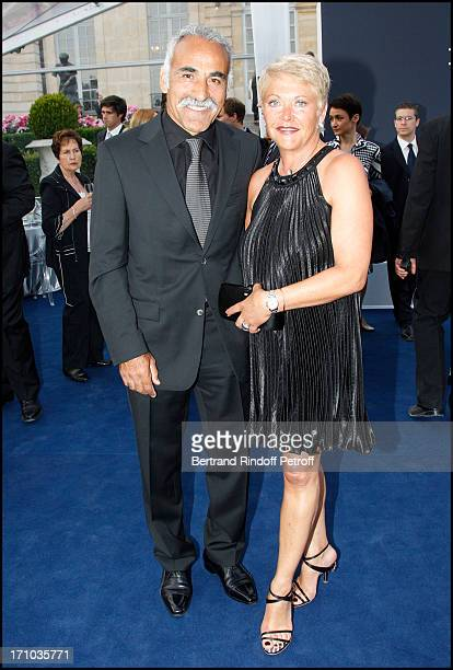 Mansour Bahrami and his wife Frederique at Charity Dinner Sponsored By Longines Elegance Is An Attitude In Benefit Of Foundation Agassi At Museum...