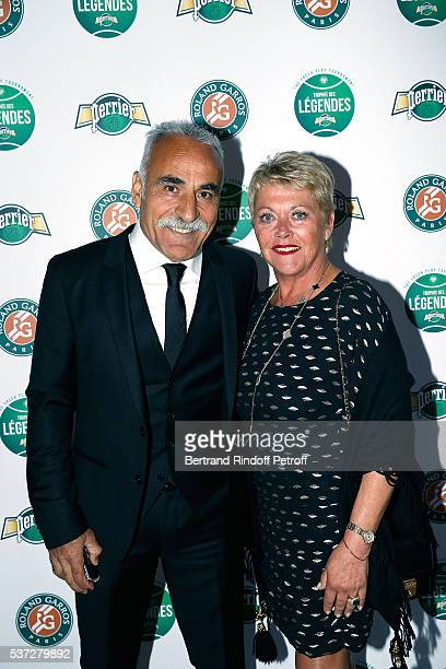 Mansour Bahrami and his wife Frederique attend the Trophy of the Legends Perrier Party at Pavillon Vendome on June 1 2016 in Paris France