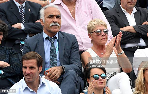 Mansour Bahrami and his wife Veronique Bahrami attend day 5 of the 2016 French Open held at RolandGarros stadium on May 26 2016 in Paris France