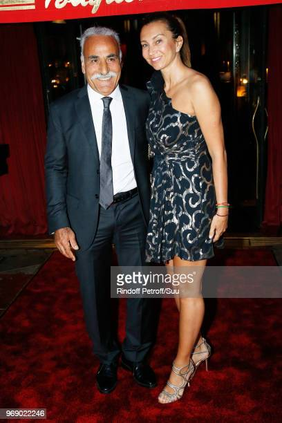 Mansour Bahrami and Iva Majoli attend Diner des Legendes at Le Fouquet's on June 6 2018 in Paris France