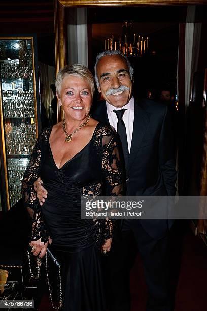 Mansour Bahrami and wife Frederique attend the Trophee des Legendes Dinner at Le Fouquet's champs Elysees on June 3 2015 in Paris France