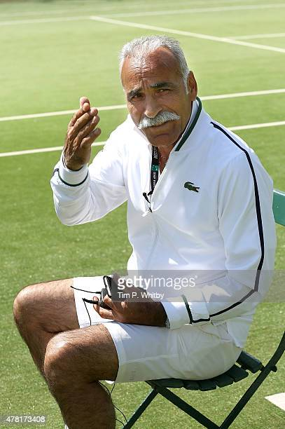 Mansour Bahrami attends a photocall at the BNP Paribas Tennis Classic VIP Reception at The Hurlingham Club on June 23 2015 in London England