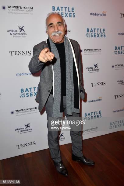 Mansour Bahrami attends the 'The Battle Of The Sexes' Paris Premiere at Publicis Champs Elysees on November 14 2017 in Paris France