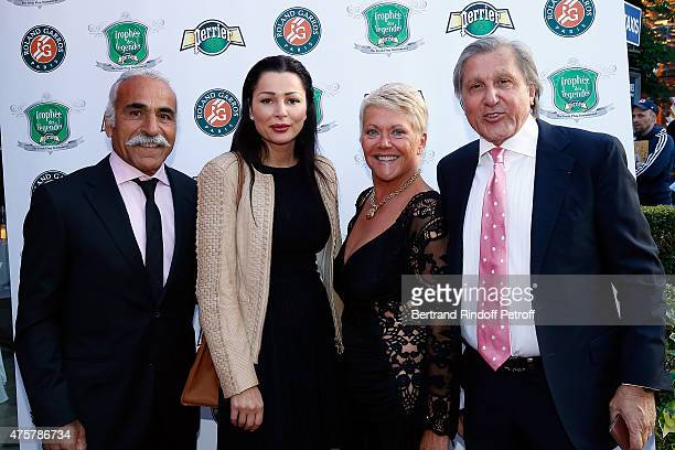 Mansour Bahrami Brigitte Sfat Frederique Bahrami and Ilie Nastase attend the Trophee des Legendes Dinner at Le Fouquet's champs Elysees on June 3...