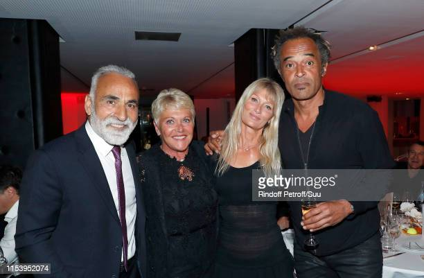 """Mansour Bahrami, Frederique Bahrami, Isabelle Camus and Yannick Noah attend the """"Legends Of Tennis"""" Dinner as part of 2019 French Tennis Open at on..."""