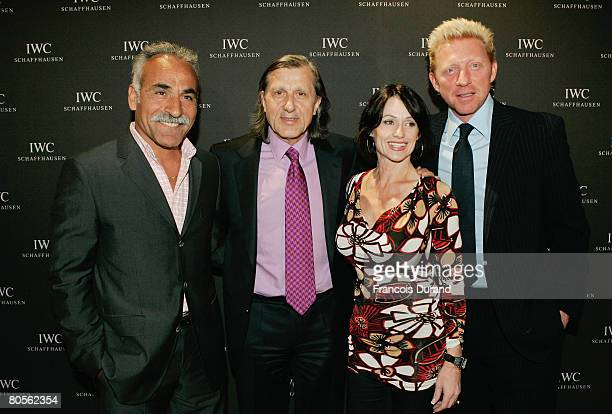 Mansour Bahrami Ilie Nastase Nadja Comaneci and Boris Becker attend the preview of 'The Crossing' gala event hosted by IWC Schaffhausen during the...