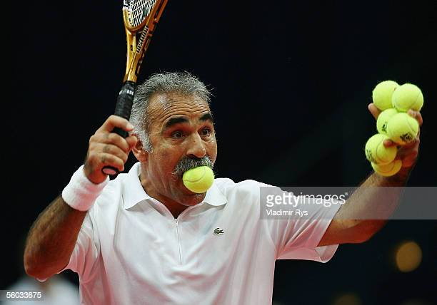Mansour Bahrami reacts in the double final during the Deichmann Champions Trophy at the Grugahalle on October 30, 2005 in Essen, Germany.