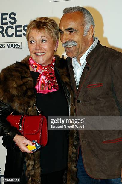 Mansour Barami and his wife Véronique at Gaumont Capucines on March 17 2014 in Paris France