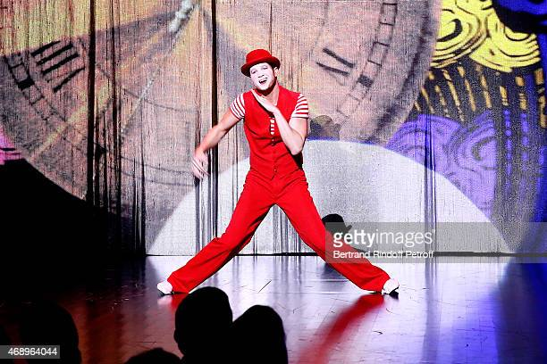 Mansour performs on stage during the 'Paris Merveilles' Lido New Revue Opening Gala on April 8 2015 in Paris France