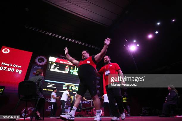 Mansour Pourmirzaei of Irak celebrates during the Men's Over to 107 Kg Group A Category as part of the World Para Powerlifting Championship Mexico...