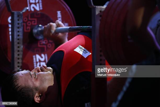 Mansour Pourmirzaei of Irak competes during the Men's Over to 107 Kg Group A Category as part of the World Para Powerlifting Championship Mexico 2016...