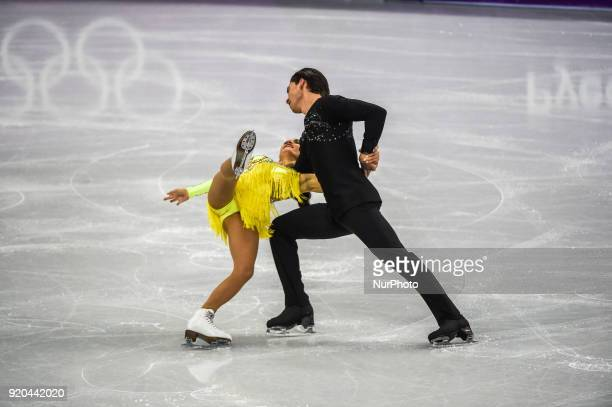 Mansourova Cortney and Ceska Michal of Czech Republic competing in free dance at Gangneung Ice Arena Gangneung South Korea on Feburary 19 2018