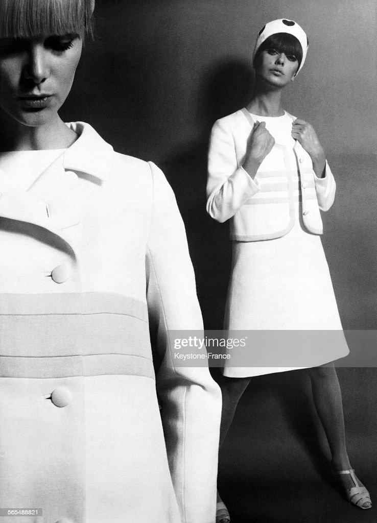 Manteau En Coton Cuir Blanc Et Ensemble Veste Et Robe En Coton Cuir News Photo Getty Images