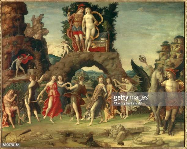 Mantegna Andrea The Parnassus Isabella d Este as Venus and Francesco II Gonzaga as Mars Paris Louvre Museum