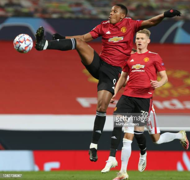 MAnthony Martial of Manchester United in action during the UEFA Champions League Group H stage match between Manchester United and RB Leipzig at Old...