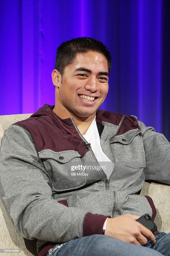 Manti Te'o attends the Stars of Maxwell Football Club Discussion Table on March 1, 2013 in Atlantic City, New Jersey.