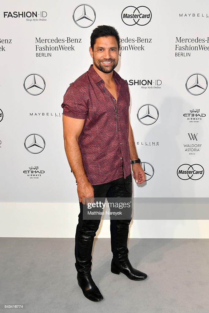 Manu Bennett attends the Thomas Hanisch show during the Mercedes-Benz Fashion Week Berlin Spring/Summer 2017 at Erika Hess Eisstadion on June 28, 2016 in Berlin, Germany.