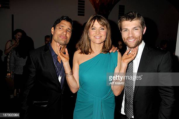 Manu Bennett Lucy Lawless and Liam McIntyre atttend the after party for STARZ Original Series 'Spartacus Vengeance' Premiere Screening at ArcLight...