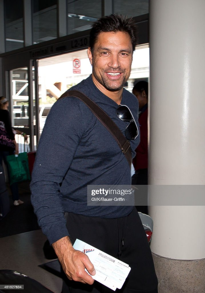Manu Bennett seen at LAX on June 30, 2014 in Los Angeles, California.