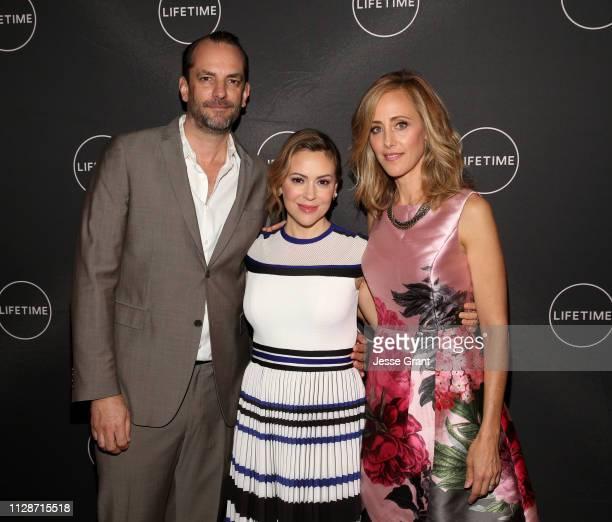 Manu Boyer Alyssa Milano and Kim Raver attend Lifetime's Female Directors and Leading Actresses 2019 Winter Television Critics Association Press Tour...