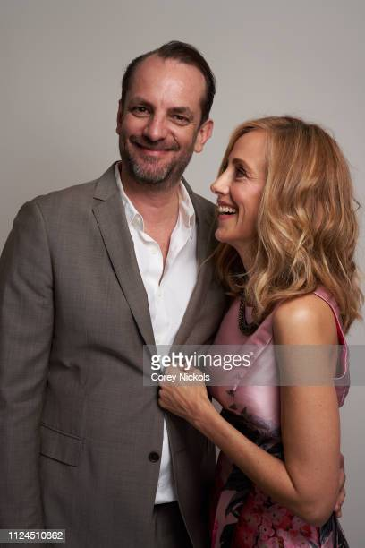 Manu Boyer and Kim Raver pose for a portrait during the 2019 Winter TCA at The Langham Huntington Pasadena on February 10 2019 in Pasadena California