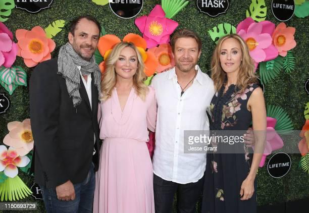 Manu Boyer Elisabeth Rohm Matt Passmore and Kim Raver attend the Lifetime Summer Luau on May 20 2019 in Los Angeles California