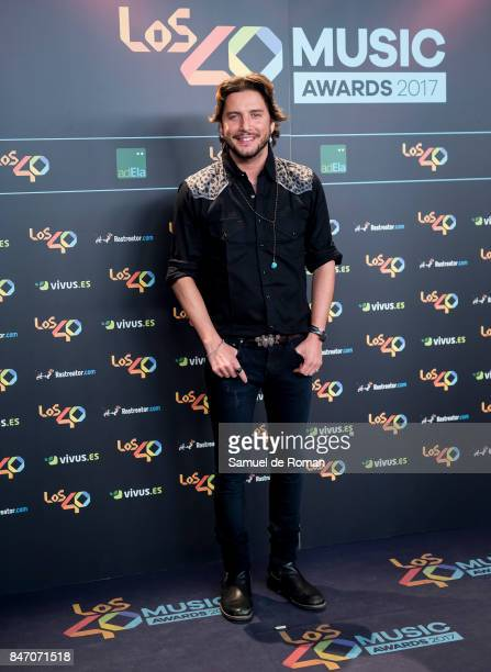 Manu Carrasco attends 40 Principales Awards candidates dinner 2017 on September 14 2017 in Madrid Spain
