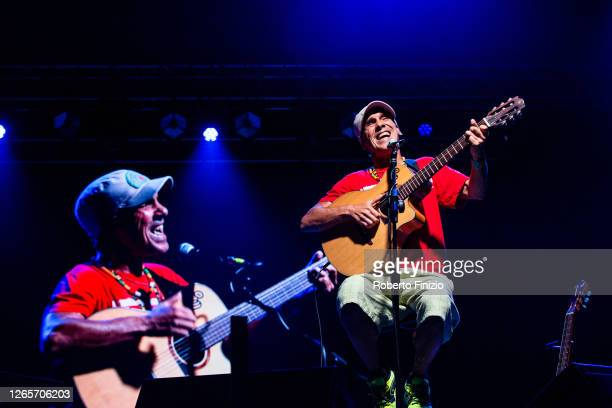 Manu Chao performs during the Collisioni Festival 2020 at Piazza O Cagnasso on August 12 2020 in Alba Italy