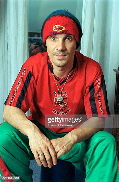Manu Chao poses on April 4th 2001 in Amsterdam, Netherlands.