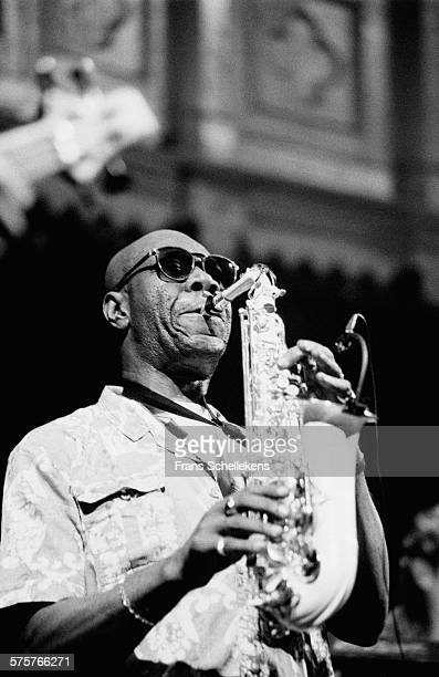 Manu Dibango, alto saxophone, performs on October 31st 1994 at the Paradiso in Amsterdam, Netherlands.