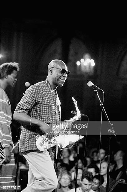 Manu Dibango alto saxophone performs on October 31st 1994 at the Concertgebouw in Amsterdam Netherlands