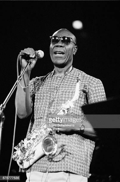Manu Dibango, alto saxophone-voice, performs on October 31st 1994 at the Concertgebouw in Amsterdam, Netherlands.