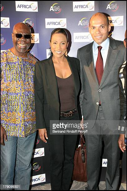 Manu Dibango Christine Kelly and Karim Wade at Premiere Party For 'Africa 24'