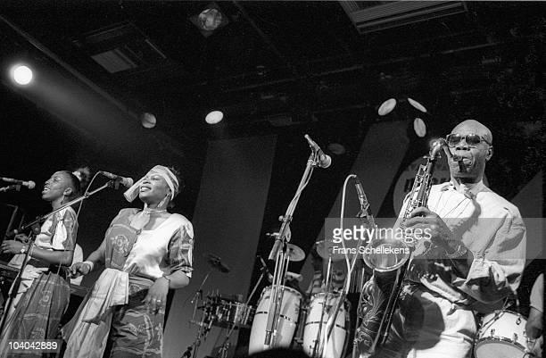 Manu Dibango performs on stage at Melkweg on May 7 1986 in Amsterdam, Netherlands.