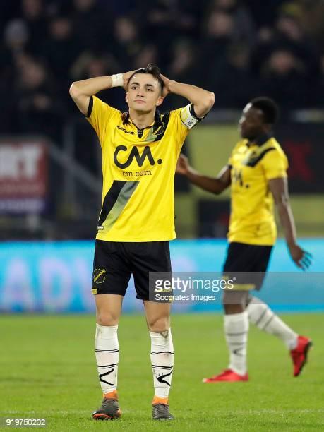 Manu Garcia Alonso of NAC Breda during the Dutch Eredivisie match between NAC Breda v AZ Alkmaar at the Rat Verlegh Stadium on February 17 2018 in...
