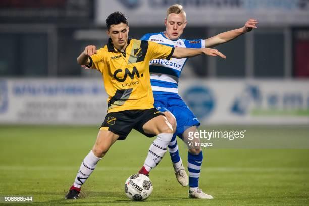 Manu Garcia of NAC Breda Rick Dekker of PEC Zwolle during the Dutch Eredivisie match between PEC Zwolle and NAC Breda at the MAC3Park stadium on...