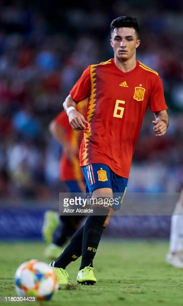 Manu Garcia of Spain U21 in action during the international friendly between Spain U21 and Germany U21 at Nuevo Arcangel on October 10, 2019 in...