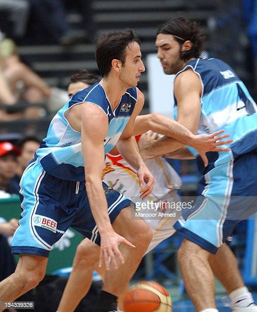 Manu Ginobili of Argentina drives during the FIBA World Championship 2006 Semi Final at the Saitama Super Arena Tokyo Japan Friday 1st September 2006