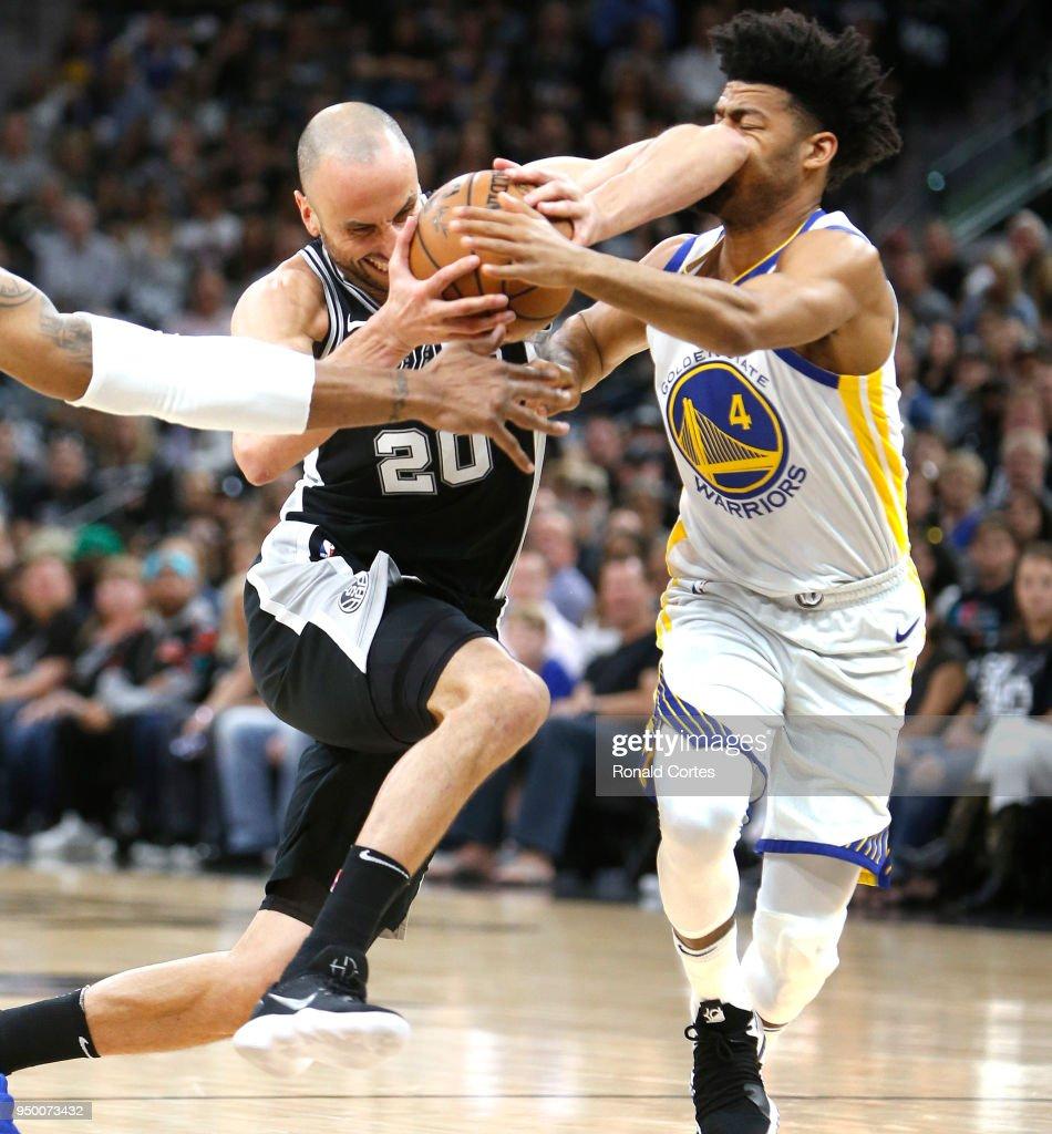 Golden State Warriors v San Antonio Spurs-Game Four : News Photo