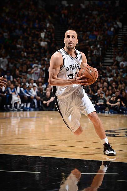 Manu Ginobili of the San Antonio Spurs vs. Mavericks